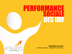 Performances sociales des institutions de microfinance