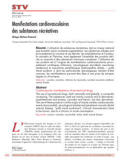 2013 STV manifestations Cardiovascuaires des substances
