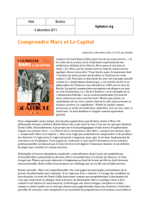 Comprendre Marx et Le Capital