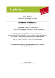 Synthèse - colloque 4-5 avril 2013 Strasbourg