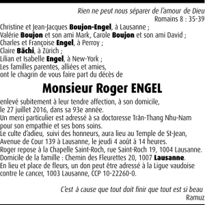 Monsieur Roger ENGEL