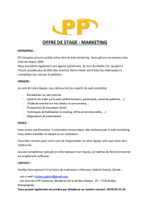 offre de stage marketing