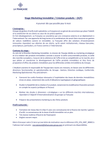 Stage Marketing Immobilier / Création produits – (H/F)