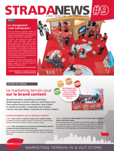 Le marketing terrain joue sur le brand content