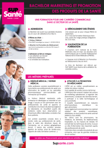 BACHELOR MARKETING PRODUITS DE LA SANTE-BD