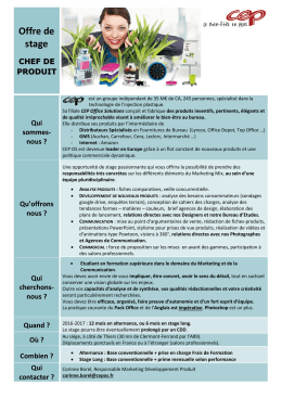 Offre de stage - CEP Office Solutions
