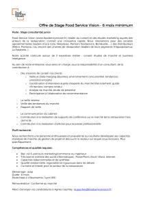 Stage de 6 mois – consultant(e) junior