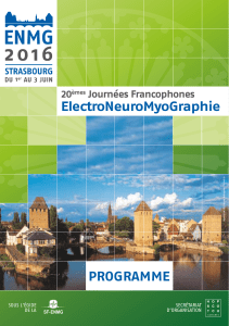 ElectroNeuroMyoGraphie PROGRAMME