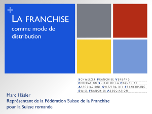 La franchise comme mode de distribution