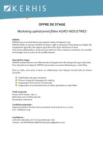 OFFRE DE STAGE Marketing opérationnel filière AGRO