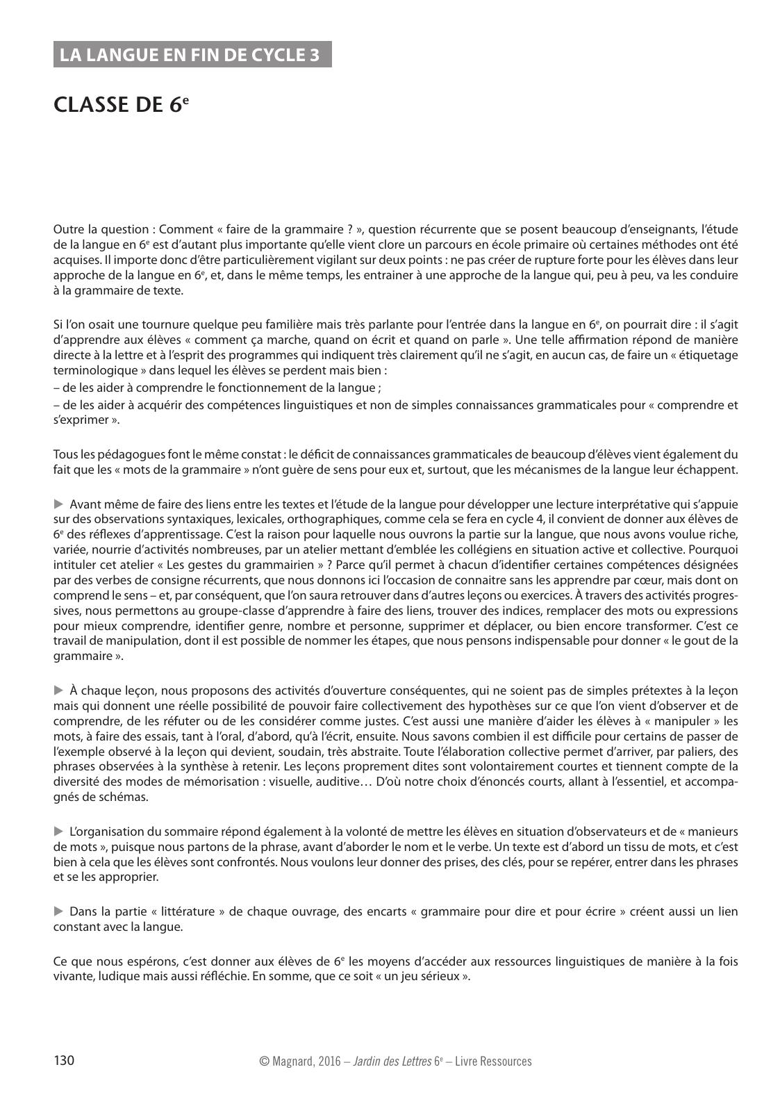 Classe De 6e Jardin Des Lettres 6e 2016 Bimanuel