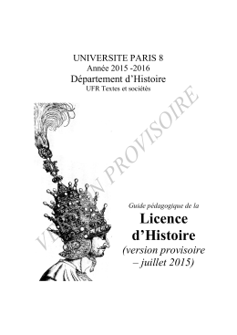 version provisoire - Université Paris 8