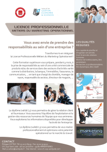 Licence Professionnelle Métiers du Marketing Opérationnel