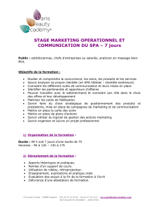 STAGE MARKETING OPERATIONNEL ET COMMUNICATION DU