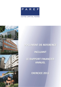 Document de référence incluant le Rapport Financier