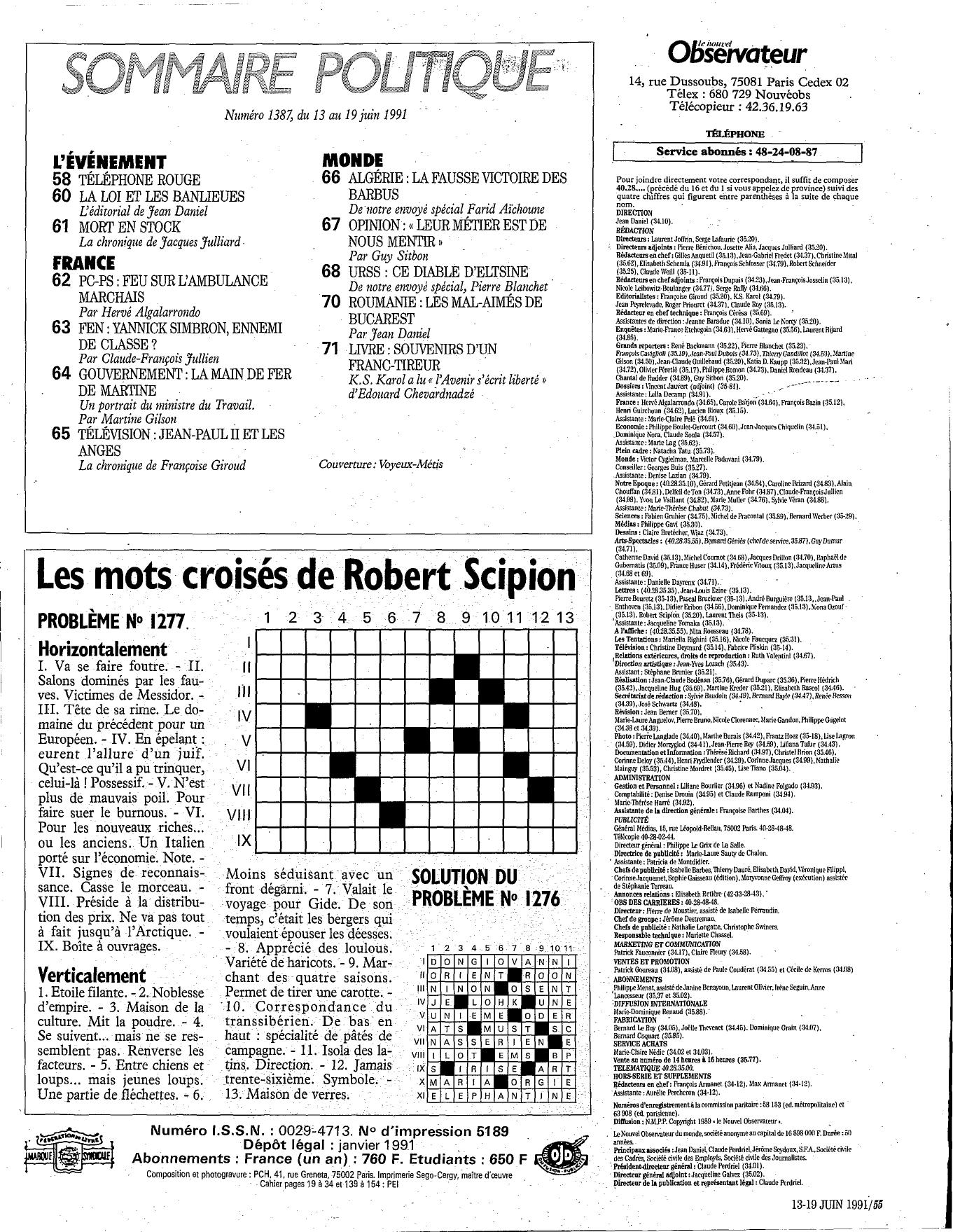 Les Mots Croisés De Robert Scipion