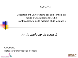 Anthropologie du corps 1