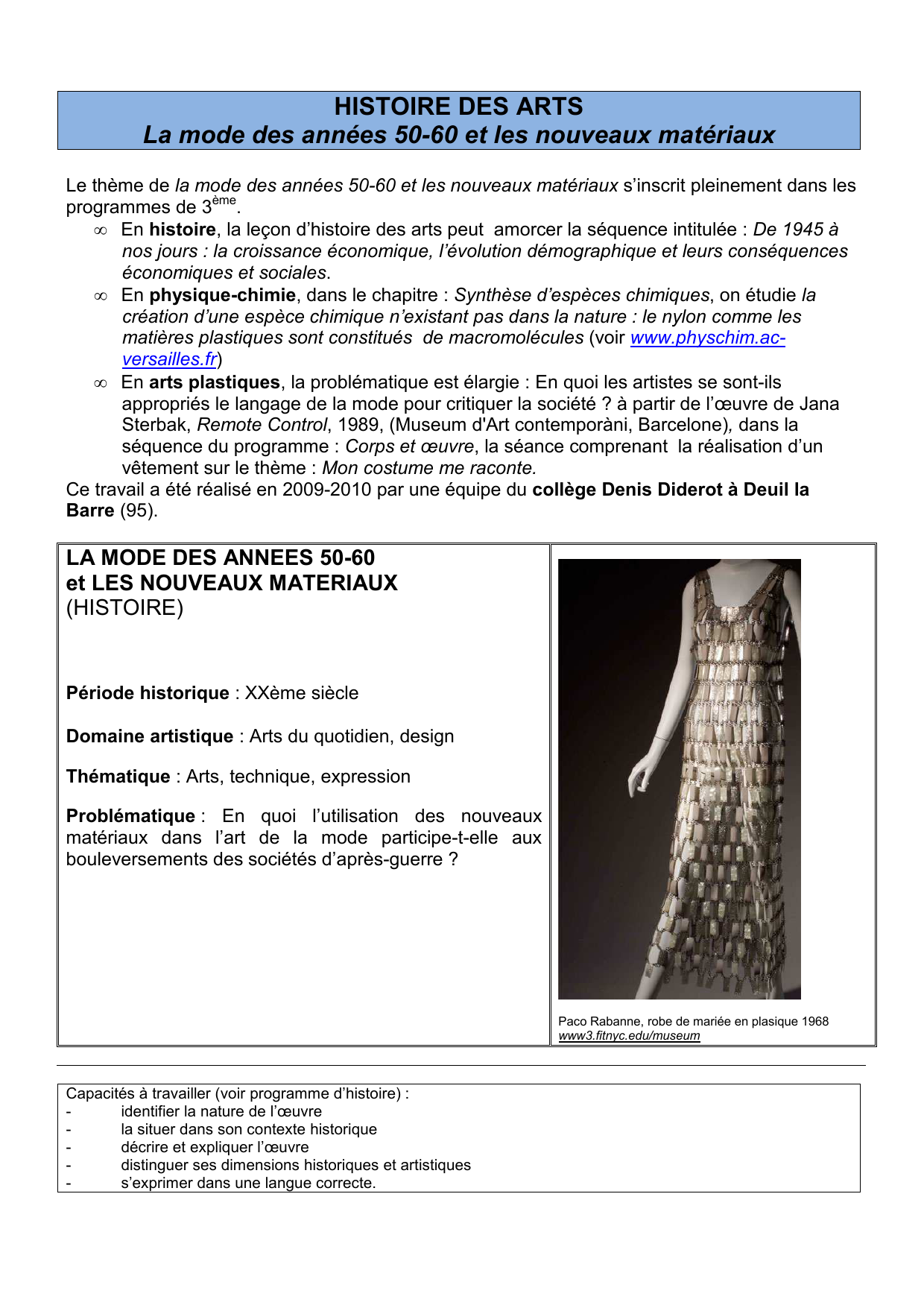 Mode La 50 Arts Annees Des Histoire RqA354Lj