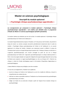 Psychologie clinique psychodynamique approfondie