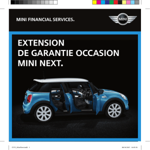 Extension de Garantie Occasion mini NEXT.