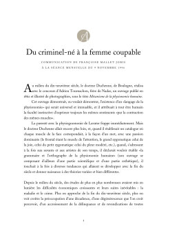 Du criminel-né à la femme coupable