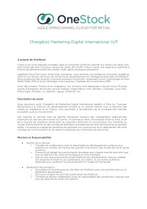 Chargé(e) Marketing Digital International H/F