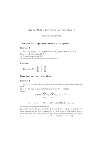 Oraux 2008 - Elements de correction 1 TPE/EIVP : Epreuve Maths 2