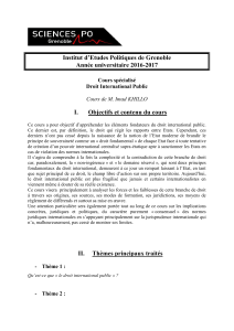 Syllabus  - Sciences Po Grenoble