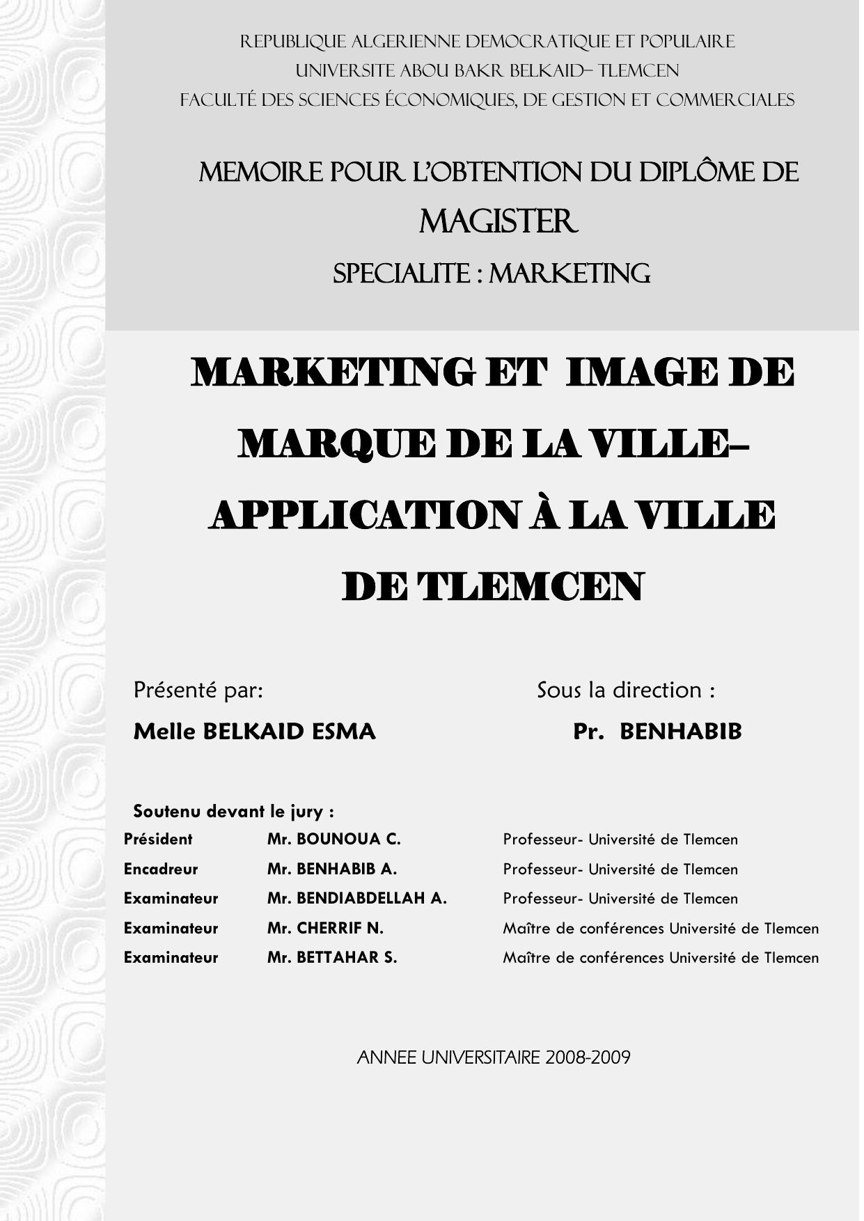 Introduction générale Depot institutionnel de l`Universite Abou Bekr