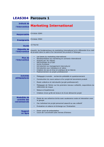 LEAS304 Parcours 1 l`intervention Marketing International