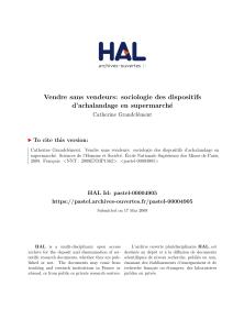 VendeursSociologie Vendre Sans Des D Dispositifs HDE29YWI