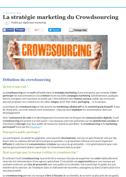 La stratégie marketing du Crowdsourcing