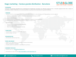 Stage marketing ? Secteur grande distribution
