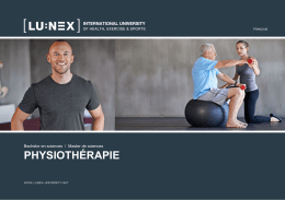 physiothérapie - Lunex University