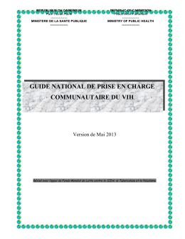 guide national de prise en charge communautaire du vih