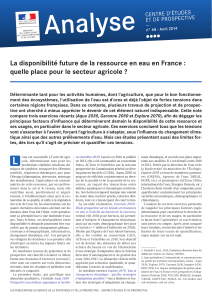 avril 2014 La disponibilité future de la ressource en eau en France