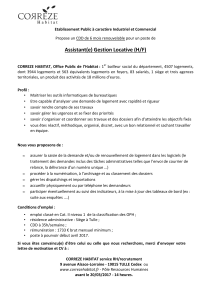 Annonce assistante gestion locative tulle externe
