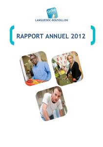 Rapport annuel Adie Roussillon 2012