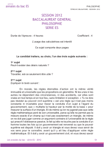 session 2012 baccalaureat general philosophie serie es - Izi-Bac