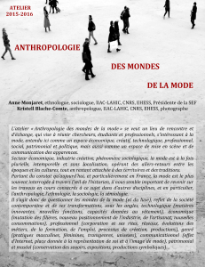 anthropologie des mondes de la mode