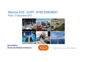 1 Réunion F2iC - CLIFF