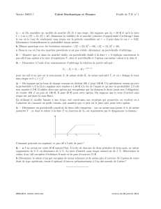Master IMEA 1 Calcul Stochastique et Finance Feuille de T.D. no 1 1