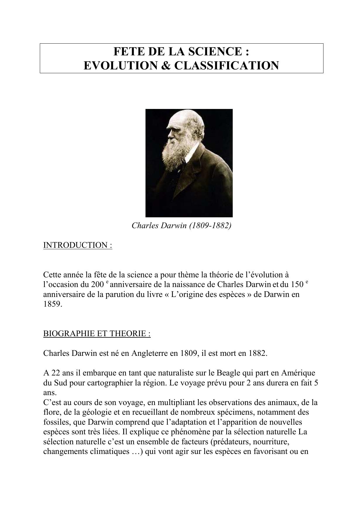 Vitesse de datation Darwin