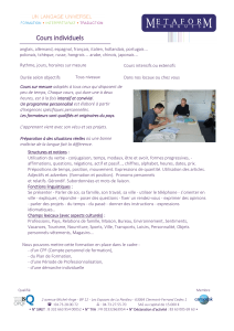 Cours individuels - Metaform Langues
