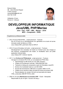 DEVELOPPEUR INFORMATIQUE Java/UML PHP/Merise