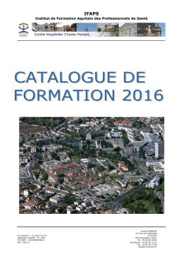 Catalogue 2016 - Centre Hospitalier Charles PERRENS