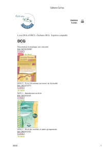 DCG - Editions Corroy