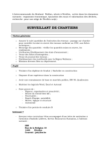 surveillant de chantiers - Intercommunale du Brabant wallon