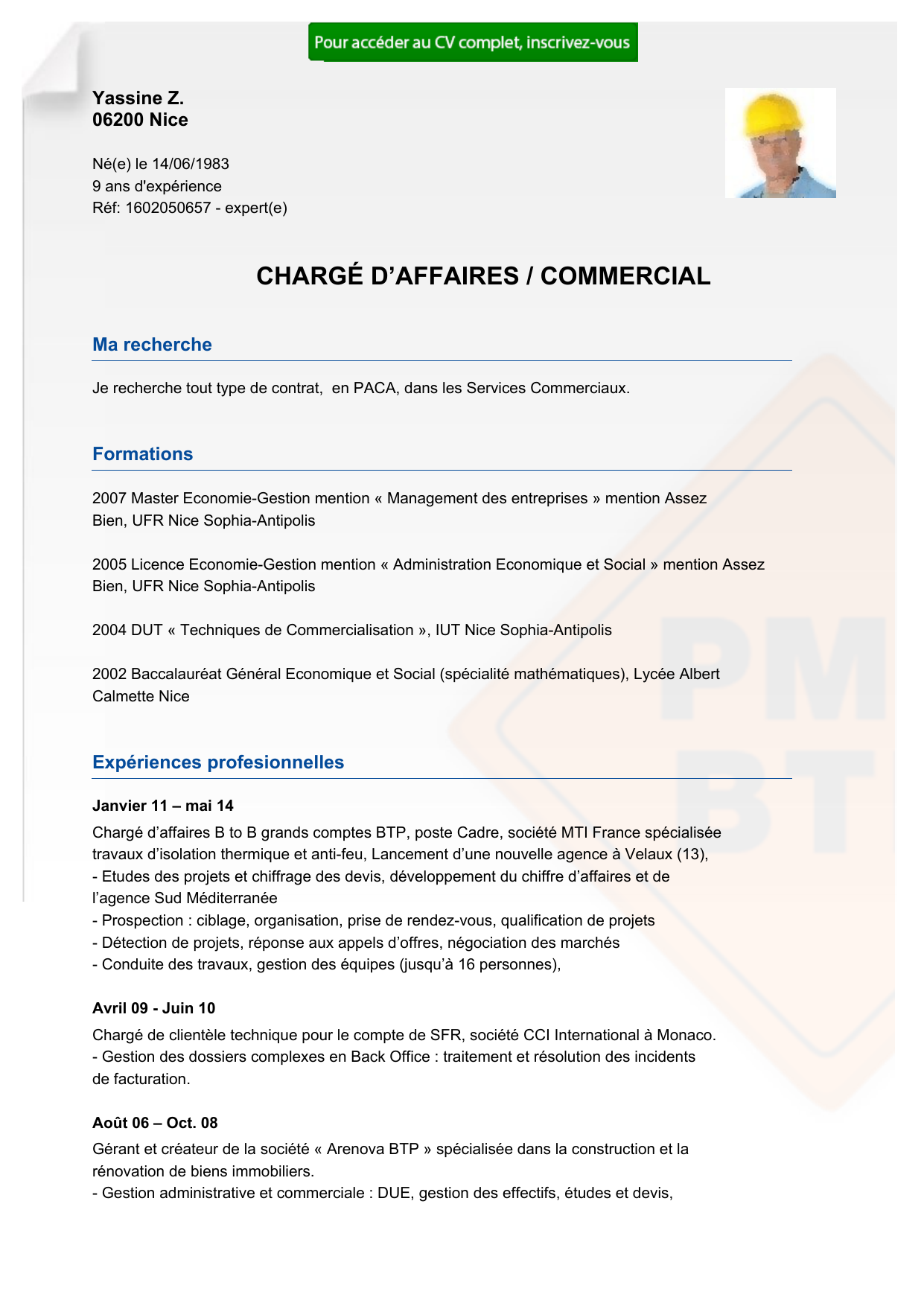 recrutement cv charg u00c9 d u2122affaires    commercial