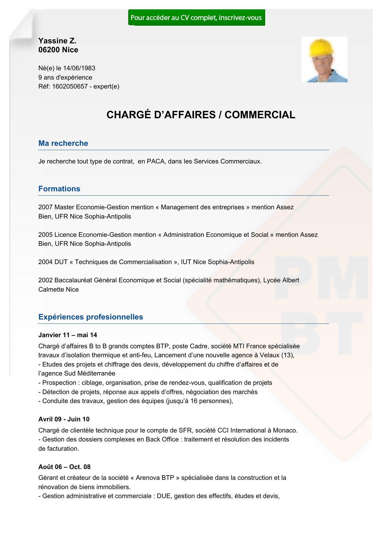 recrutement cv charg u00c9 d u2122affaires    commercial